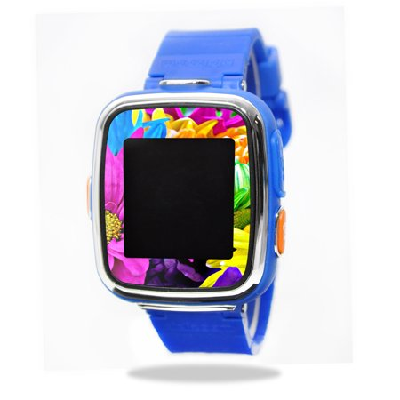 Mightyskins Protective Vinyl Skin Decal For Vtech Kidizoom Smartwatch Dx Wrap Cover Sticker Skins Colorful Flowers