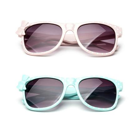 Kyra Kids Plastic Polka Dot Bow Sunglasses Lead (Infant Sunglasses)