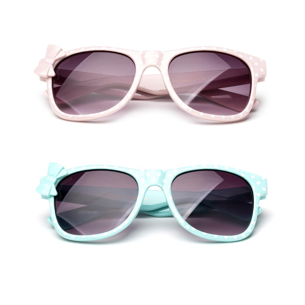 Kyra Kids Plastic Polka Dot Bow Sunglasses Lead Free
