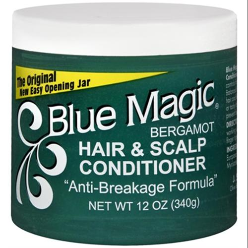 Blue Magic Hair & Scalp Conditioner, Bergamot 12 oz (Pack of 2)