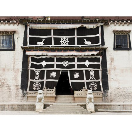 Entrance, Gedan Song Zanling Temple, Shangri-La (Zhongdian), Yunnan Province, China Print Wall Art By Jochen Schlenker