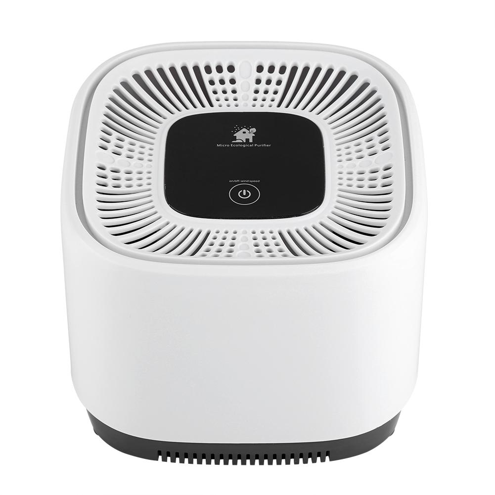 Bon HERCHR Negative Ions Air Purifier, White Air Purifier Attached With Water  Bucket, Mini Desk Air Purifier Freshener Negative, US Standard 110V 240V ...