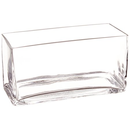 Clear Long Rectangle Block Glass Vase 35 By 8 By 4 Inch Width
