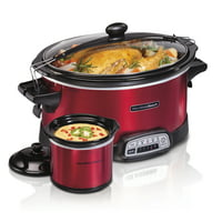 Hamilton Beach 7 Quart Stay or Go Programmable Slow Cooker with Party Dipper #33478
