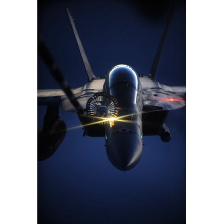 Laminated Poster Jet Aircraft Sky Plane Night Lights Flying Poster Print 11 x 17 - Jets Flying