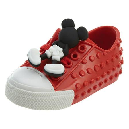 MINI MELISSA + DISNEY Mickey Mouse Polibolha Sneaker in Red US 05 Disney Mickey Mouse Shoe