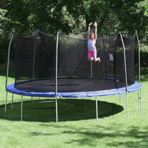 Skywalker Trampolines 16' Oval trampoline and Enclosure - Blue