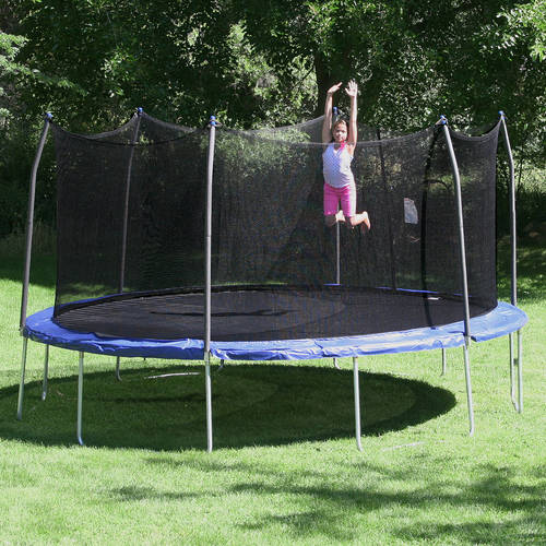 Skywalker Trampolines 16' Oval trampoline and Enclosure - Blue