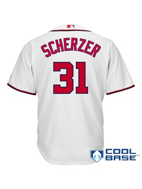 Max Scherzer Washington Nationals Majestic Cool Base Player Jersey - White