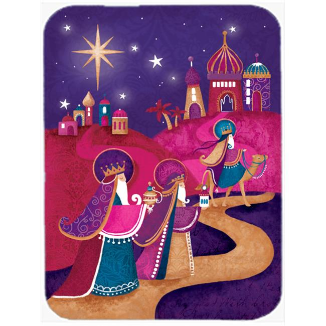 Christmas Wise Men in Purple Mouse Pad, Hot Pad or Trivet