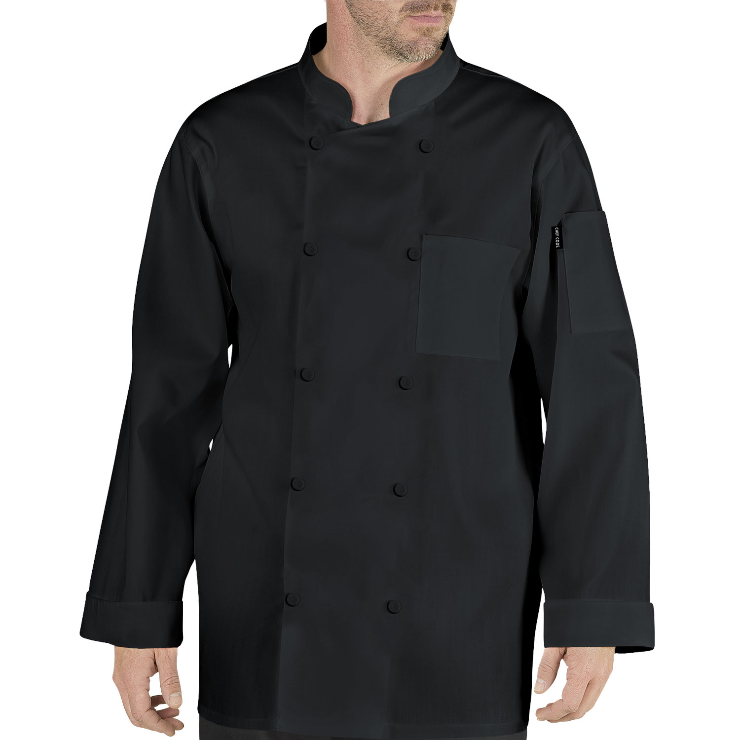 Chef Code Stephano Classic Chef Coat with Cloth Covered Buttons CC110CB by Chef Code