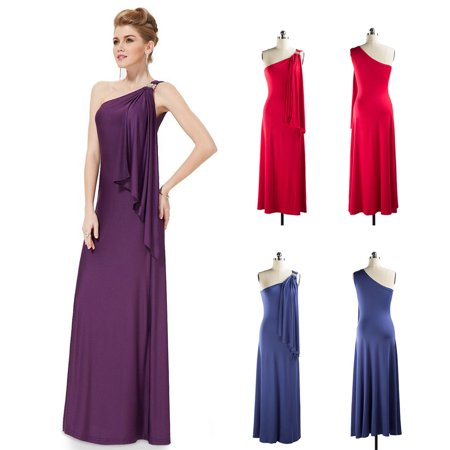Ball Gowns for Women,One Shoulder Party Long Maxi Dress Sleeveless ...