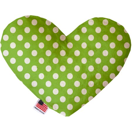 - Lime Green Swiss Dots 6 Inch Heart Dog Toy