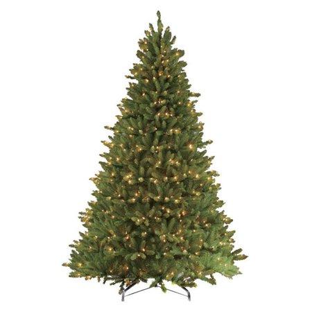 10' Pre-Lit Full Fraser Fir Artificial Christmas Tree - Clear Lights ()