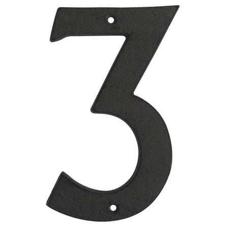Nickel 3 Address Numbers - 6