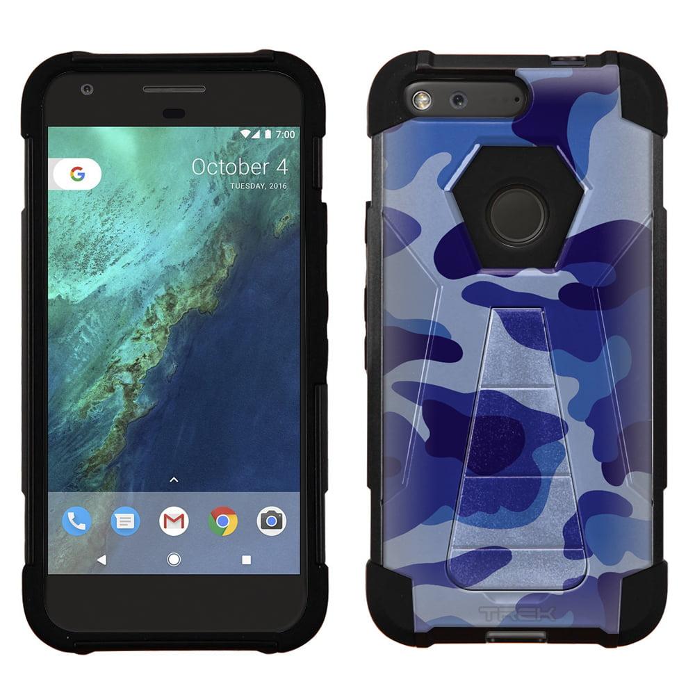 Google Pixel Hybrid Stand Case - Camouflage Blue