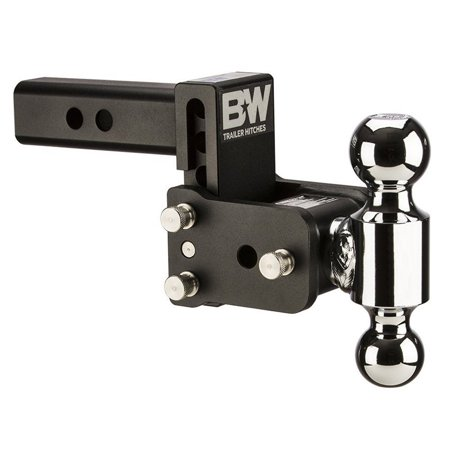 B&W TS10033B Tow and Stow Magnum Receiver Hitch Ball Mount for Tow & Stow 6in Model 3in Drop 3.5in Rise 2 & 2 5/16 - Magnum Receiver
