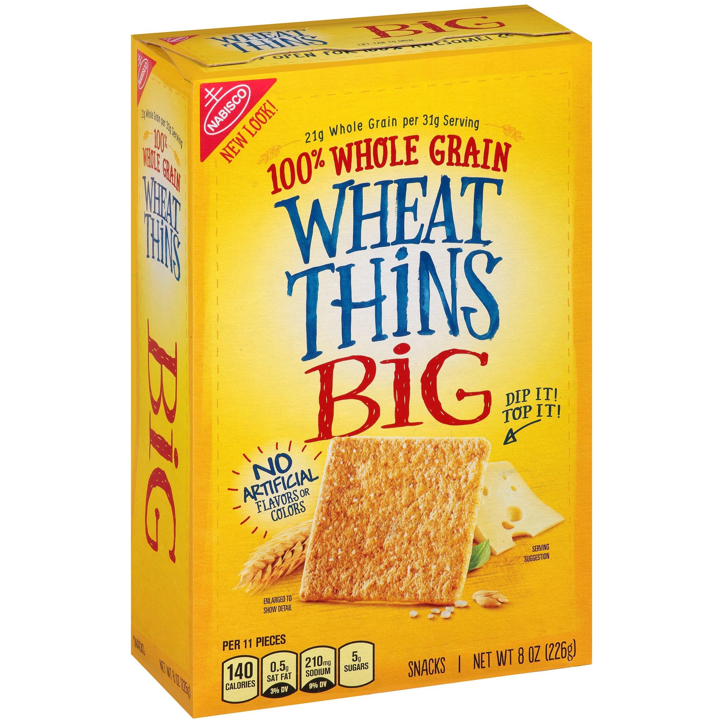 Mondelez Global Llc Nabisco Big Top Wheat Thins Snacks, 8.0 Oz