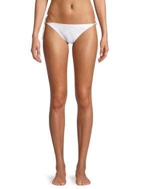 No Boundaries Juniors' Solid Side Tie Nobo Bikini Swimsuit Bottom