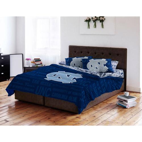 NCAA Anthem Bedding Comforter Set with Sheets, University of North Carolina