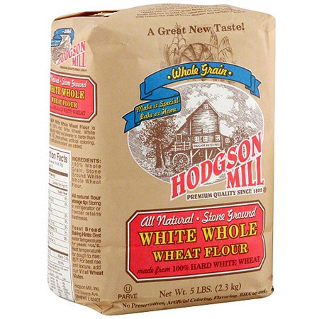 Hodgson Mill White Whole Wheat Flour, 5 lb (Pack of (Difference Between Whole Wheat Flour And White Flour)
