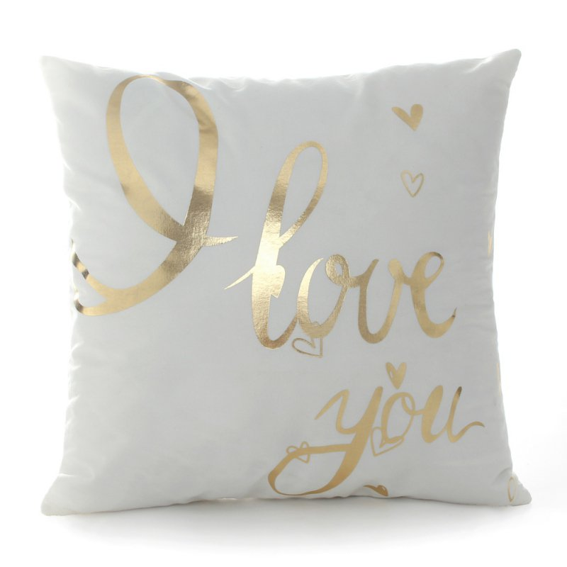 Nicesee Modern Golden Silver Printing Sofa Bed Pillow Case Home Car Decor
