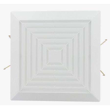 Great Ventilation - USI Electric Square Grille Assembly Replacement Part for Bath Fans (BFSGR)