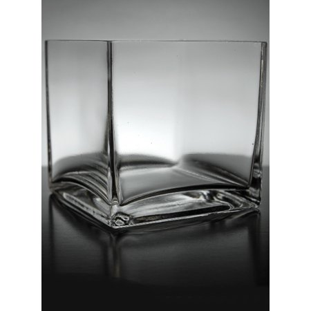 12 Clear Glass 5 Inches Square Vases Walmart