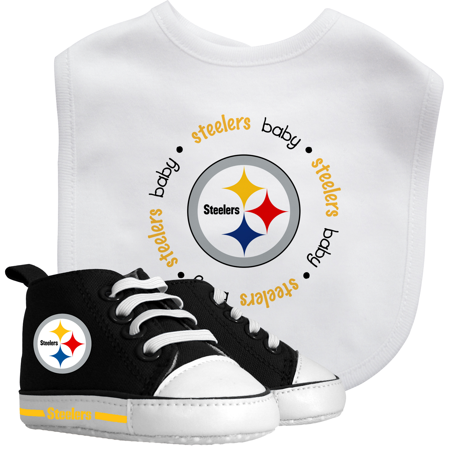 NFL Pittsburgh Steelers Bib & Prewalker Baby Gift Set