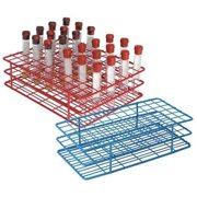 HEATHROW SCIENTIFIC HS120089 Test Tube Rack,Epoxy-Coated Steel,Blue