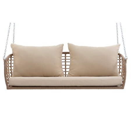 Bali Wicker - Belham Living Bali All Weather Wicker Porch Swing