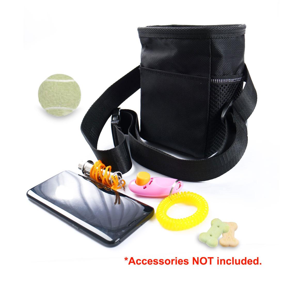 Dog Treat Training Pouch Bag Pet Training Accessory Holder Toy Bag Black