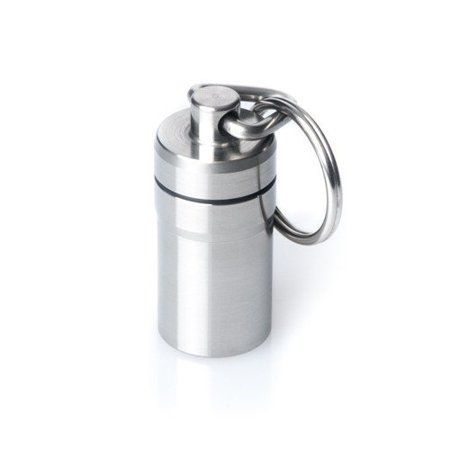 GUS Special Pill Fob, Made in USA, Stainless Steel Keychain Pill Holder, Nitro Bottle Holder