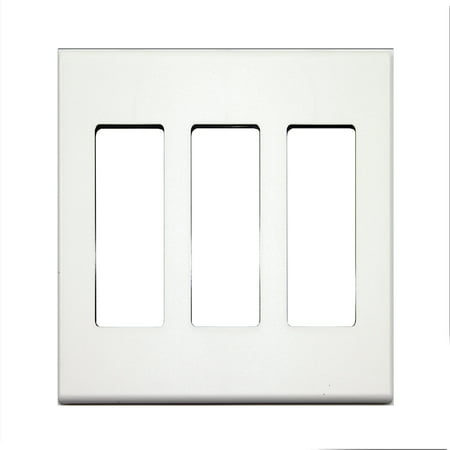 Control4 C4-FP3-WH 3-Gang Wall Plate Screwless Snap-On Mount, White