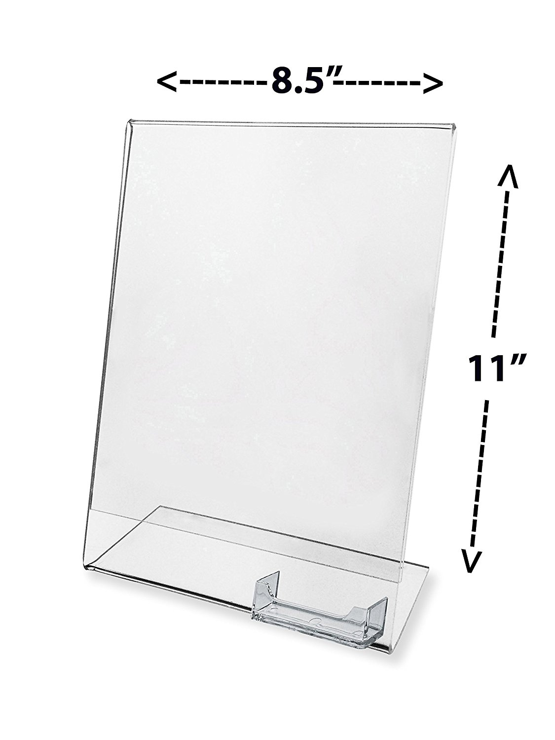 Ad frame with business card holder clear acrylic 8.5 X 11 (Each), (1 ...