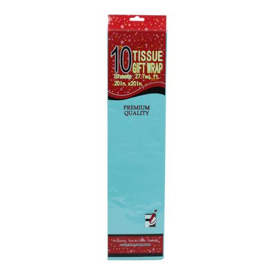 Aqua Gift - New 214080  Aqua Tissue Gift Wrap 10- Sheet Pack - 20X20 (12-Pack) Cheap Wholesale Discount Bulk Stationery Acne Wash