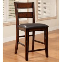 Furniture of America  Katrine Cherry Counter Height Chairs (Set of 2)