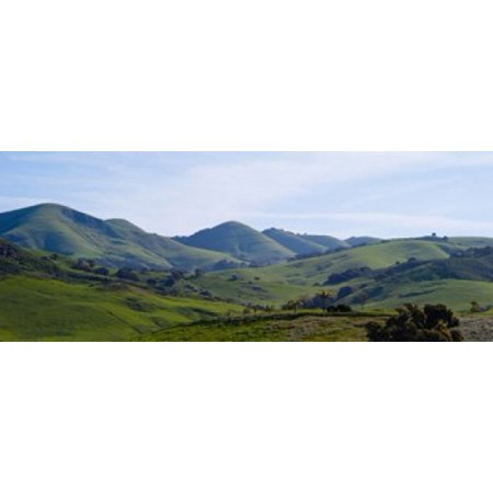 High angle view of a valley Edna Valley San Luis Obispo County California USA Canvas Art - Panoramic Images (15 x 6) - Halloween San Luis Obispo