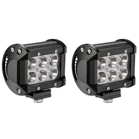 Light Bar Replacement Spotlight (Senlips 2 pcs 18W Cree Leds Spot Light Led Fog Lights Offroad Led Light)