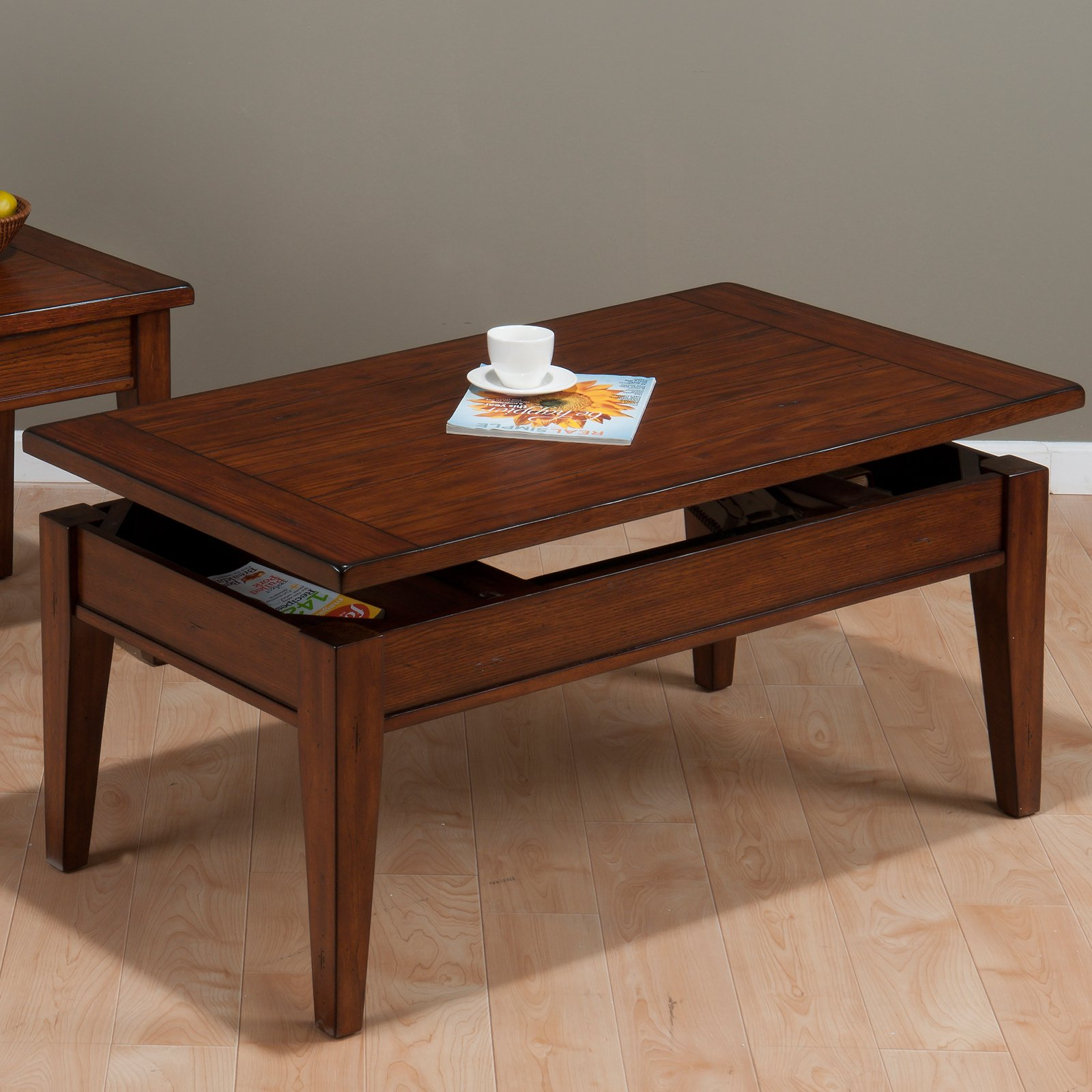 Delicieux Jofran Dunbar Lift Top Cocktail Table   Medium Oak   Walmart.com