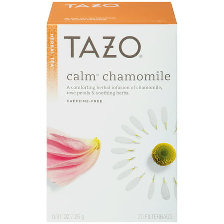 (3 Boxes) Tazo Calm Chamomile Tea Bag Herbal tea 20ct