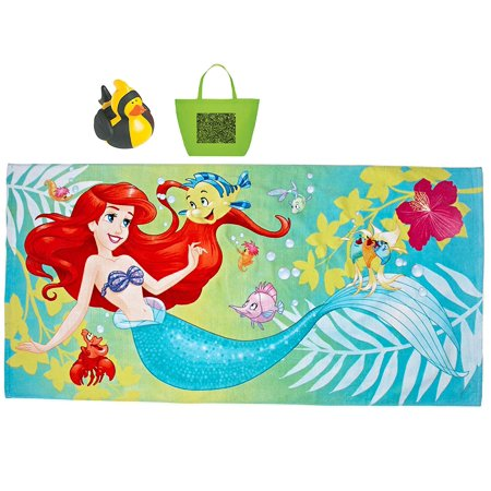 Ariel The Little Mermaid Beach Towel, Doodle Tote & Rubber Ducky Multi-Pack - FREE SHIPPING](Little Mermaid Towel)