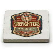 Firefighter Firefighter Denim Fade Single Natural Stone Coaster