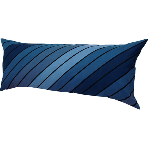 Hanes Easy Comfort Body Pillow with Removable Pillow Cover, Blue Stripes