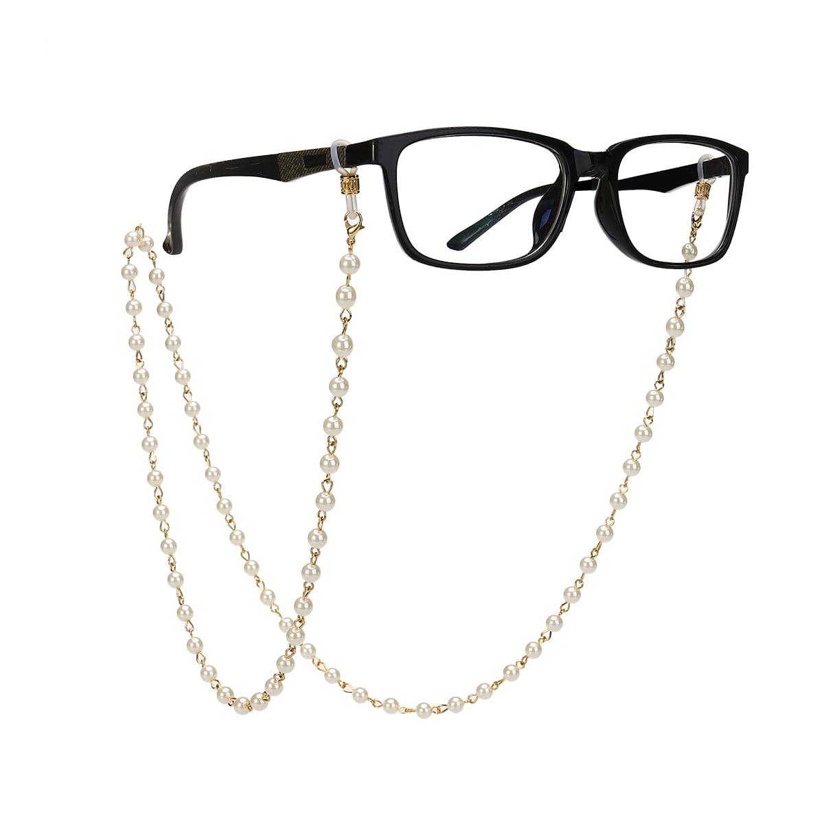 Imitation Pearls Bead Eyeglass Chain Glasses Strap Cords Sunglass Holder  Lanyard Necklace - Walmart.com - Walmart.com