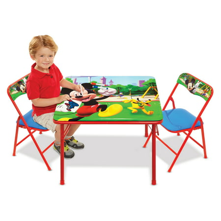 Mickey Mouse Erasable Activity Table and Chairs Playset