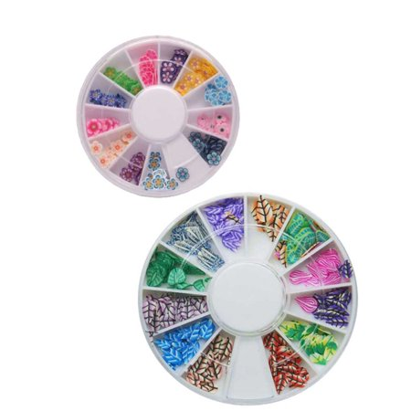 Nail Art Wheel Fimo Polymer Clay 3D Assorted Colorful -