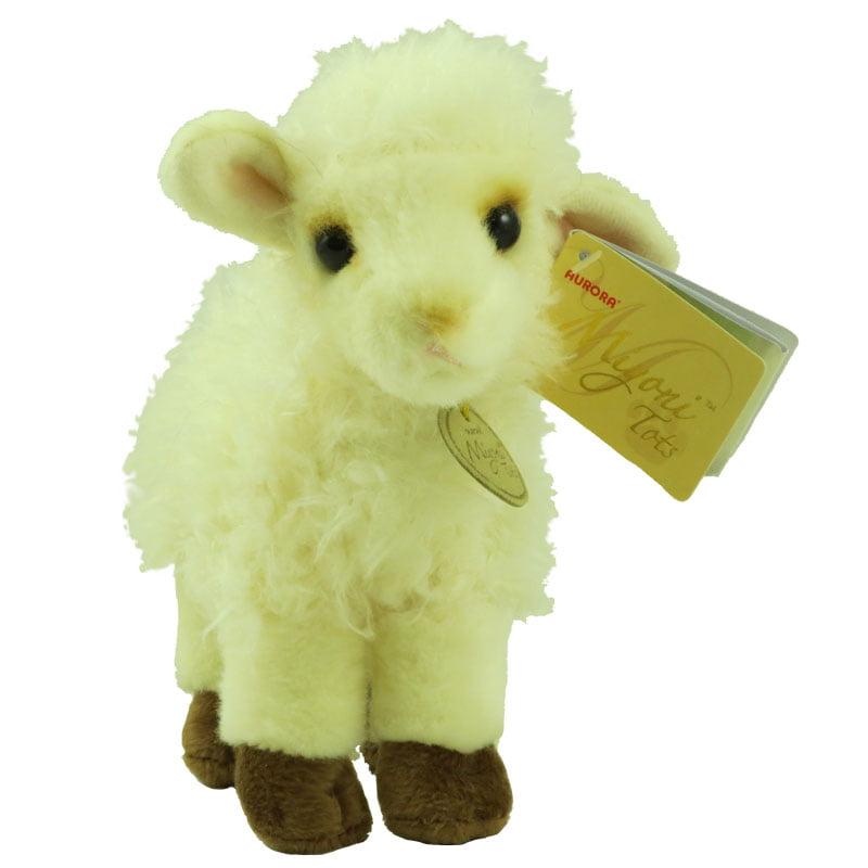 "Aurora 7/"" Miyoni Baby Lamb Plush Stuffed Animal Toy #26208"