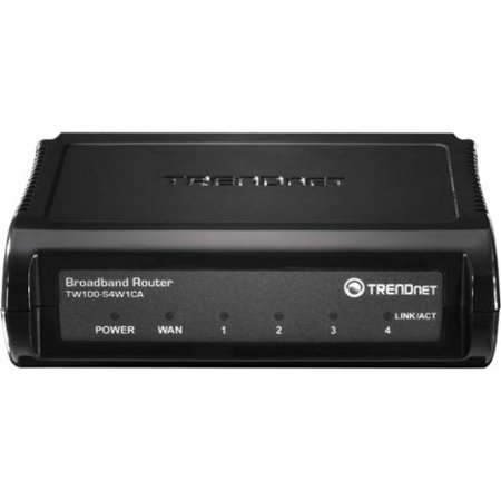 Trendnet Tw100-s4w1ca Rtr Dsl/cable Router Firewall Nat
