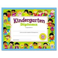 TREND Colorful Classic Certificates, Kindergarten Diploma, 8 1/2 x 11, 30 per Pack
